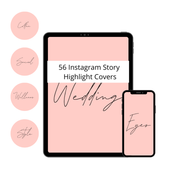 INSTAGRAM STORY HIGHLIGHT COVER BLUSH PINK